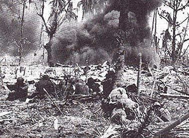 The 184th Infantry Regiment advances on Kwajalien, 1944