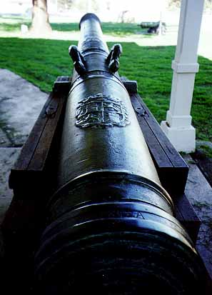 Spanish cannon from Castillio de San Joaquin